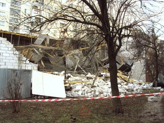 Обвал магазина в Одессе